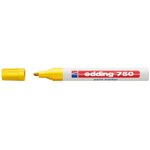 Marcatore permanente a vernice 750 - punta da 2,0 a 4,0mm - giallo - Edding