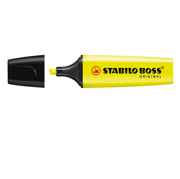 Evidenziatore Boss Original - giallo - punta a scalpello - tratto da 2 a 5mm - Stabilo