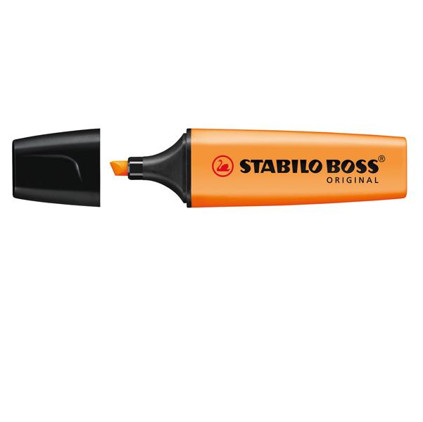 Evidenziatore Stabilo Boss Original - punta a scalpello - tratto 2,0mm-5,0mm - arancio - Stabilo