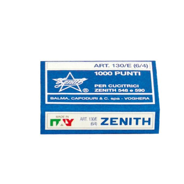 Punti 130/E - 6/4 - acciaio naturale - metallo - Zenith - conf. 1000 pezzi