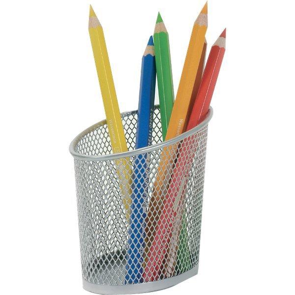 Portapenne mesh alba argento meshcup m - Portapenne da scrivania ...
