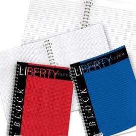 Blocco Liberty Block spirale - 5mm - 220 x 290mm - 70gr - 80 fogli - Pigna