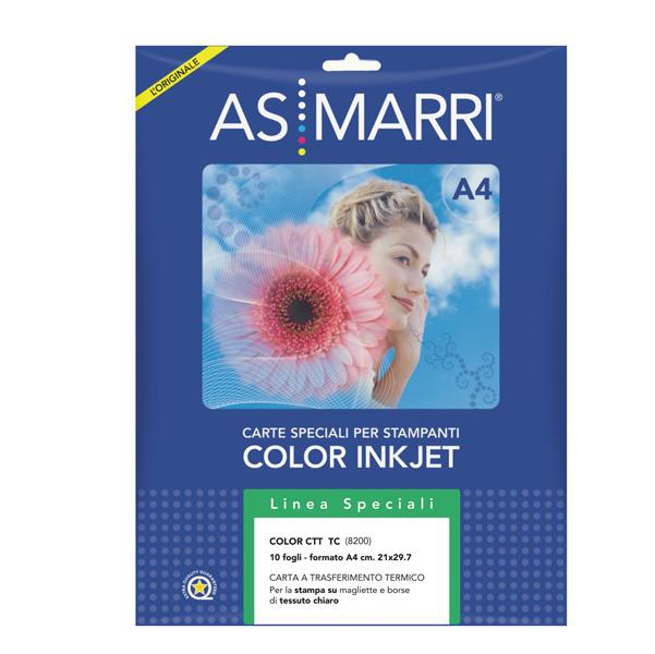 Carta transfer per tessuto chiaro - A4 - As Marri - conf. 10fg