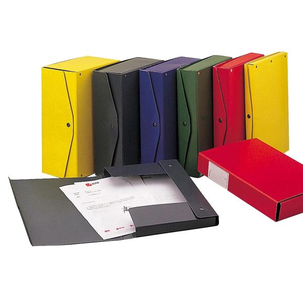 Scatola archivio Project - dorso 12 cm - 25x35 cm - rosso - King Mec