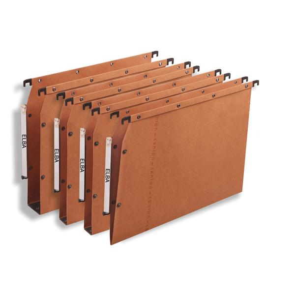Cartella sospesa - armadio Ultimate® - interasse 33 cm - fondo V - 32,5x27,5 cm - avana - Favorit