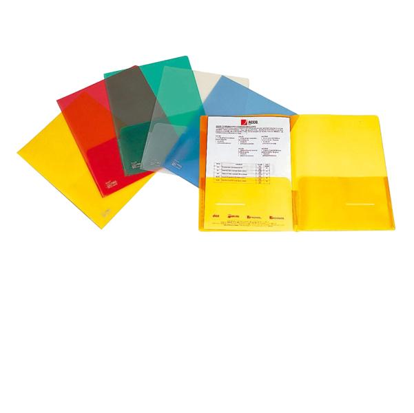 Cartellina con tasche Full - 21x29,7 cm - trasparente - King Mec
