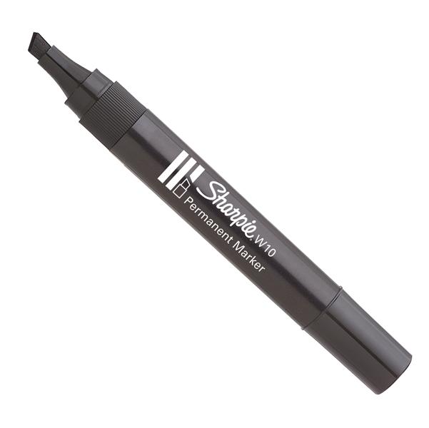 Marcatore permanente W10 - punta a scalpello 5,00mm - nero - Sharpie