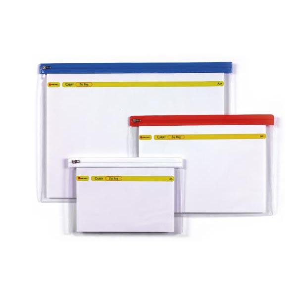 Busta a Zip Bag - 18x26,8 cm - A5 - banda colorata - Rexel