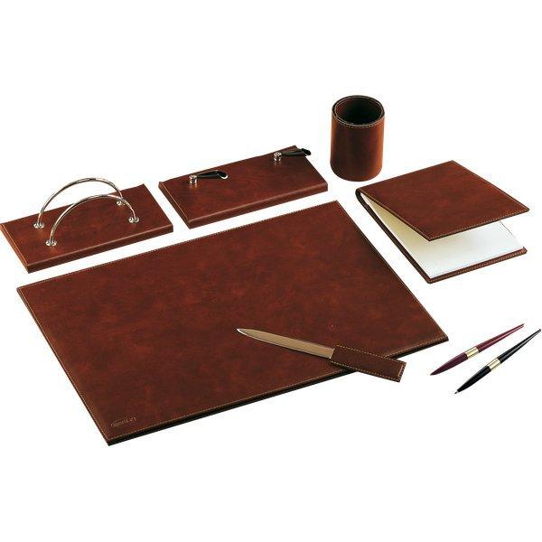 Set da scrivania classico in similpelle