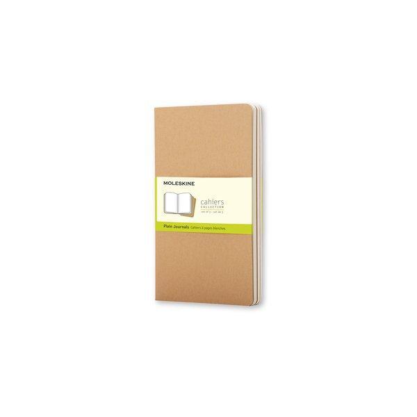 Set 3 quaderni con copertina avana