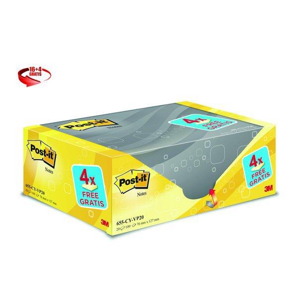 Foglietti Post-it   Giallo Canary  Value pack