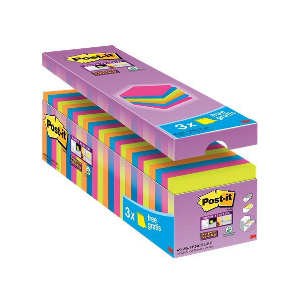 Foglietti Post-it  Super Sticky Value pack Colore