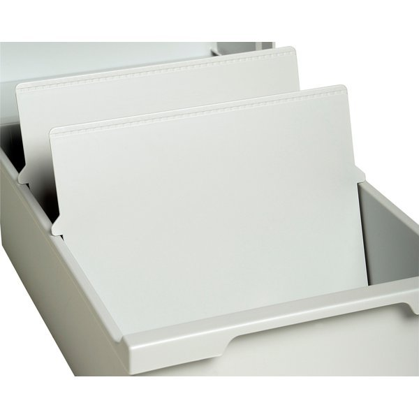 Intercalari per schedari exacompta a6 10 5x14 8 cm for Schedari per ufficio
