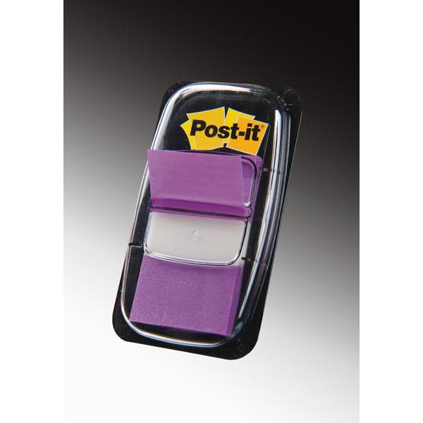 Segnapagina Post it® Index Medium - 25,4x43,2 mm - porpora - Post it® - conf. 50 pezzi