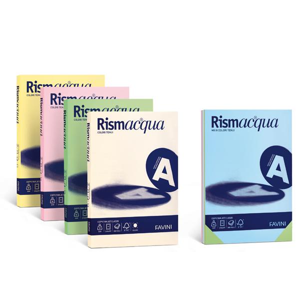 Carta Rismacqua - A4 - 140 gr - giallo chiaro 07 - Favini - conf. 200 fogli
