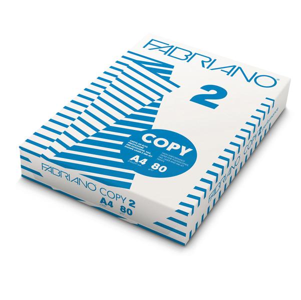 Carta Copy 2 - A4 - 80 gr - bianco - Fabriano - conf. 500 fogli