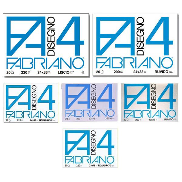 Album F4 - 240x330mm - 220gr - 20fg - liscio - Fabriano