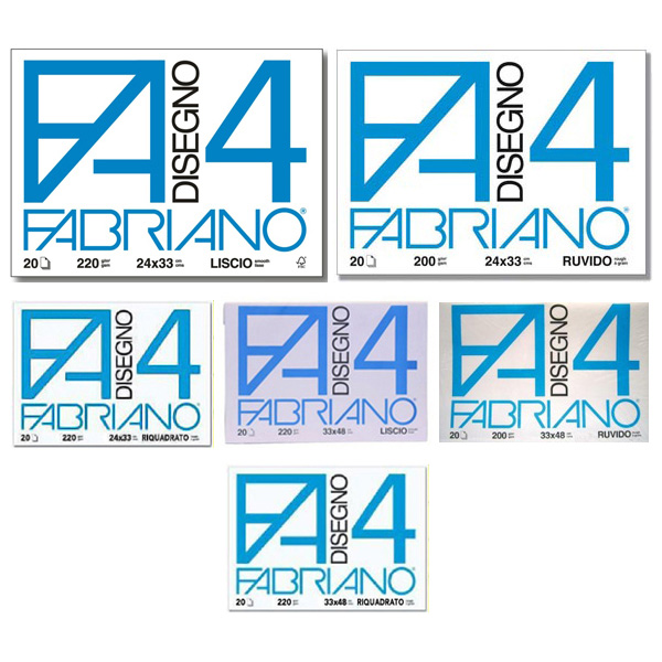 Album F4 - 24x33Cm - 220gr - 20 fogli - liscio - Fabriano
