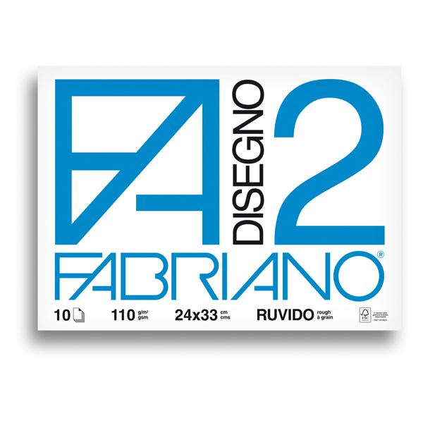 Album F2 - 240x330mm - 110gr - 10fg - ruvido - punto metallo - Fabriano
