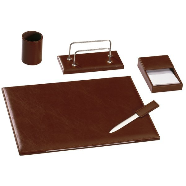 """Set da scrivania in pelle """"by Cast"""" - 50x35 cm - bruciato ..."""