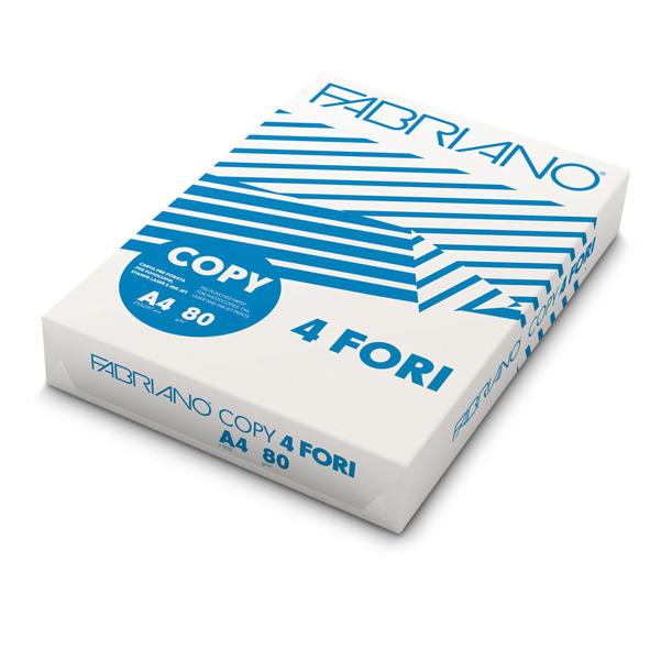 Carta Copy 4 fori - A4 - 80gr - Fabriano - conf. 500fg