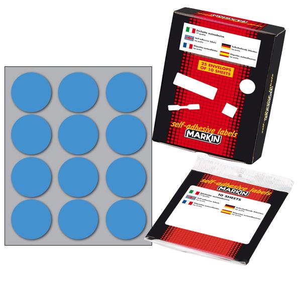 Confezione da 10 Fogli con 15 Etichette Adesive per Foglio Formato mm 37 x 27
