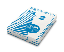 Carta Copy 2 - 215 x 330mm - 80gr - Fabriano - conf. 500fg