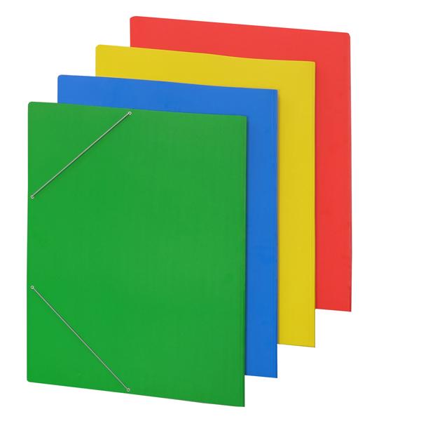 Cartellina con elastico - cartone plastificato - 50x70 cm - rosso - Cartotecnica del Garda