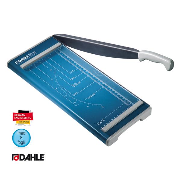 Taglierina a leva Hobby 502 - 320 mm (A4) - capacità taglio 8 fg - 420x175 mm - blu - Dahle