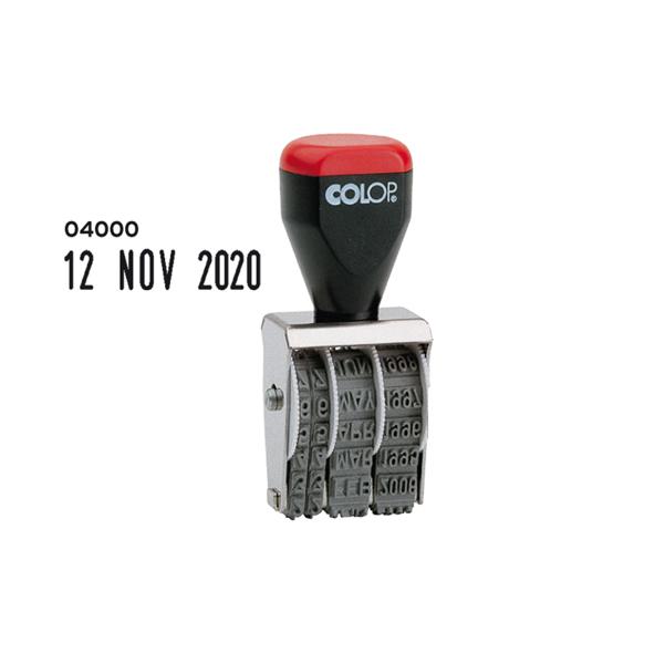 Timbro 04000 Datario - 4 mm - Colop® - blister 1 pezzo