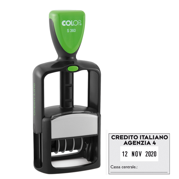 1485396d4b 1PZ Timbro datario personalizzabile s360 30x45mm colop - Ufficio.com