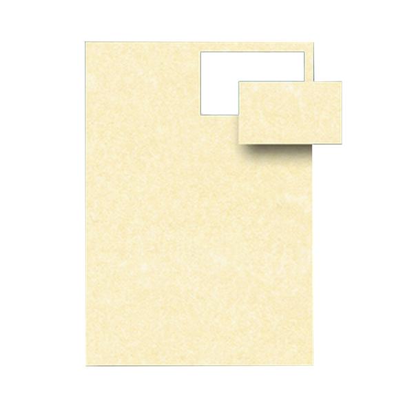 Biglietti da visita - 85 x 54 mm - 165 gr - microperforati - avorio - Decadry - conf. 12 fogli da 10 biglietti
