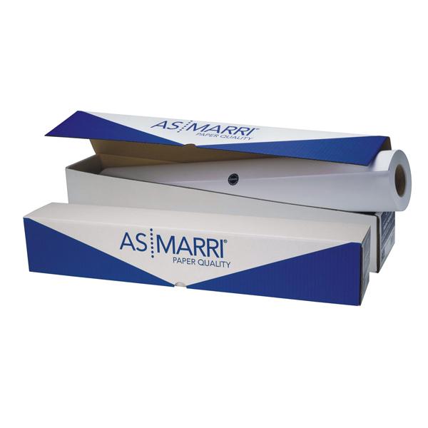 Carta Inkjet plotter J.90S - 1067mm x 50mt - 90gr - opaca - As Marri