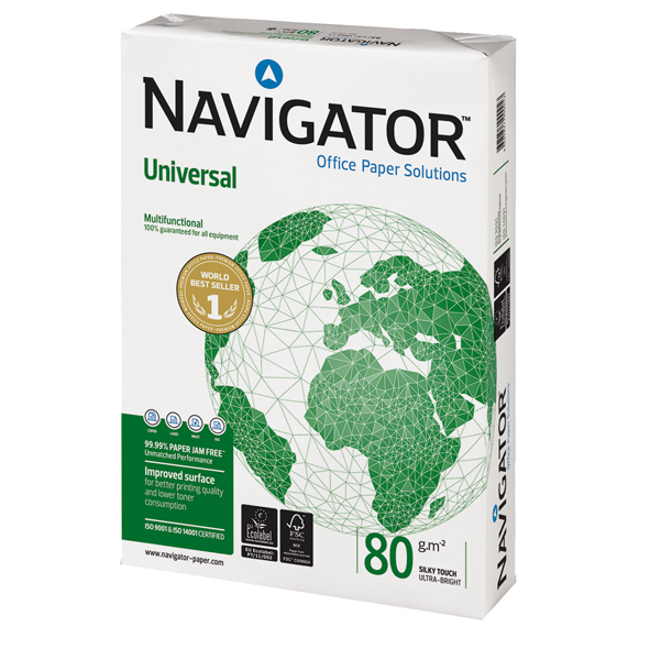 Carta Universal 80 - A4 - 80gr - Navigator - conf. 500fg