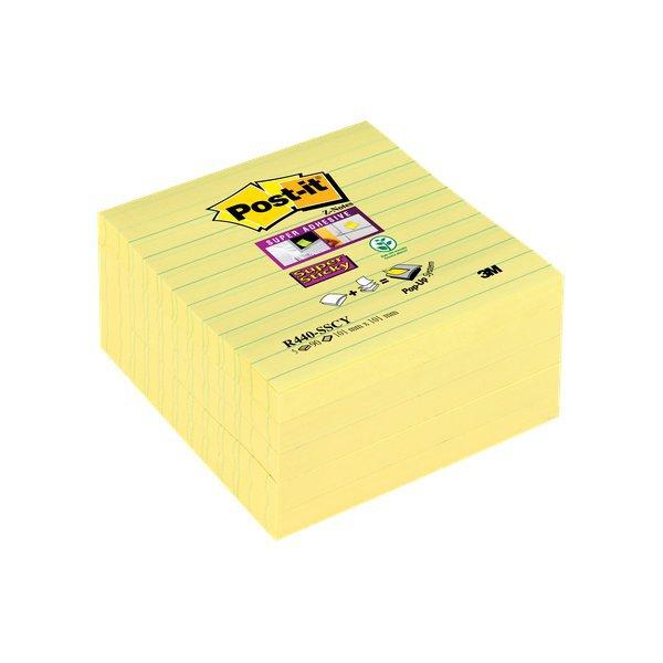 Foglietti per dispenser Post-it  Super Sticky Z-Notes XL a righe