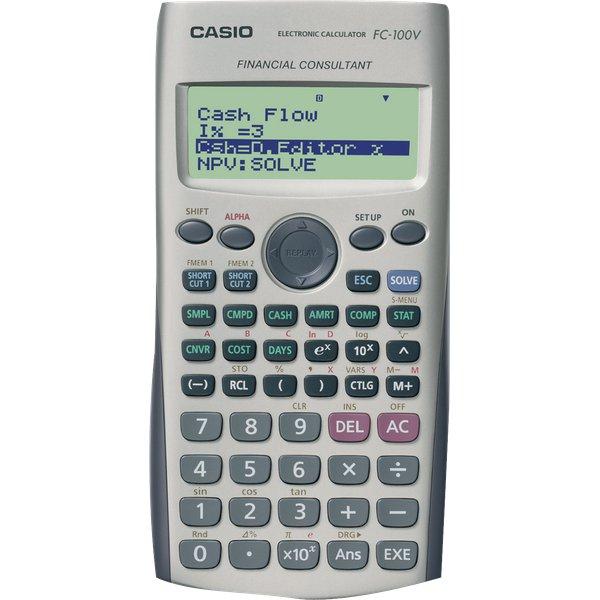 Calcolatrice finanziaria fc 100v casio fc 100v for Ammortamento arredamento