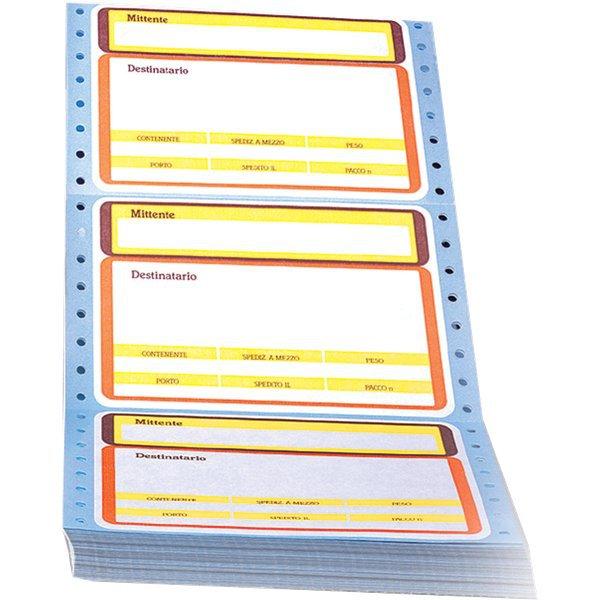 Etichette a modulo continuo