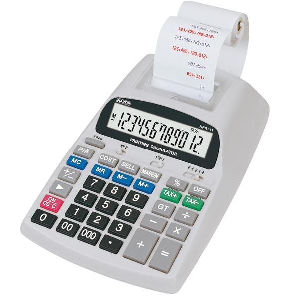 Calcolatrice scrivente NPR711 - 12 cifre - Aurora