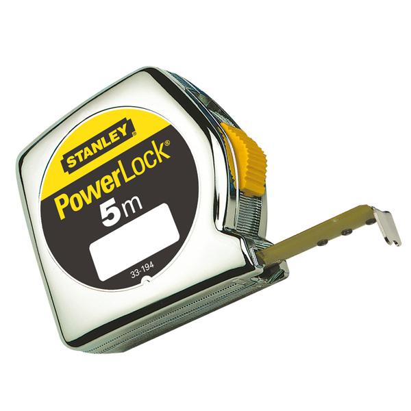 Flessometro PowerLock - 5 mt - larghezza nastro 19 mm - Stanley