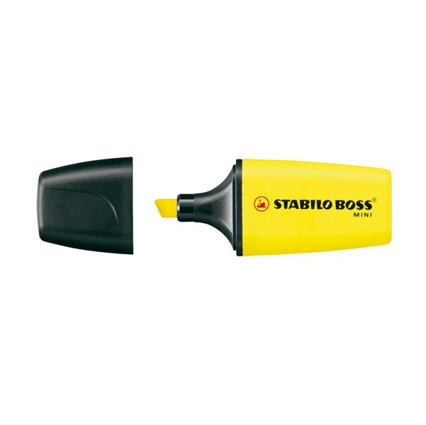 Evidenziatore Boss Mini - punta scalpello - tratto 2,0-5,0mm - giallo - Stabilo