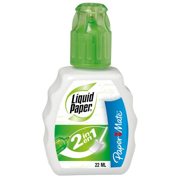 Correttore liquid paper 2in1 22ml papermate