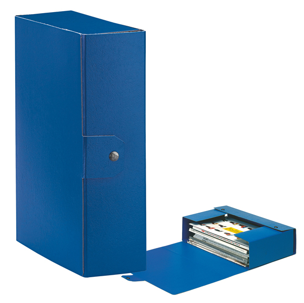 Scatola progetto Eurobox - dorso 10 cm - 25x35 cm - blu - Esselte