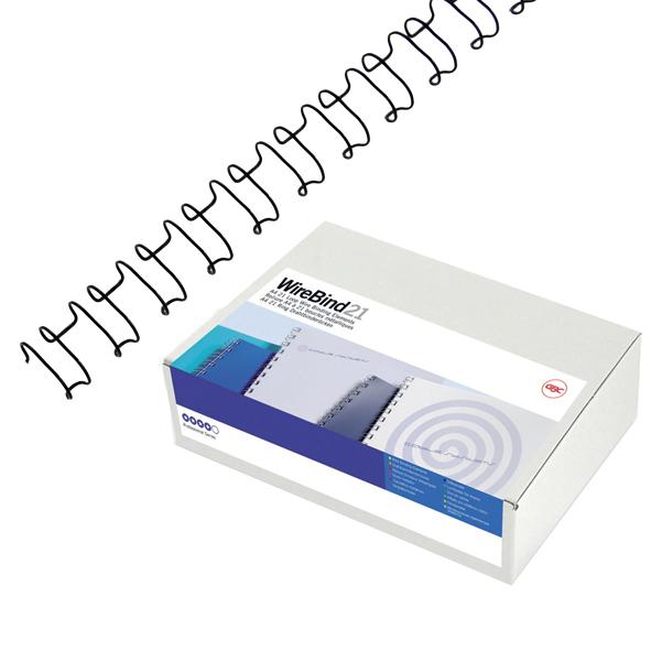 Dorsi spirale IbiWire - metallo - 21 anelli - 8 mm - argento - GBC - scatola 100 pezzi