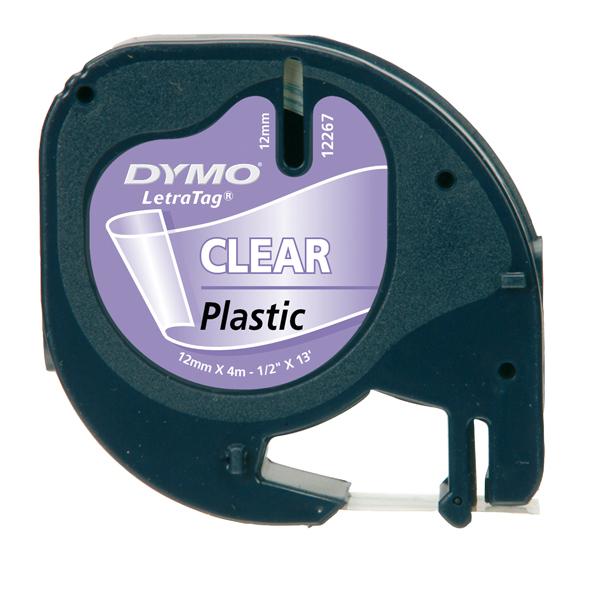 Nastro Letratag - 122670 - 12mmx4mt - in plastica - trasparente - Dymo