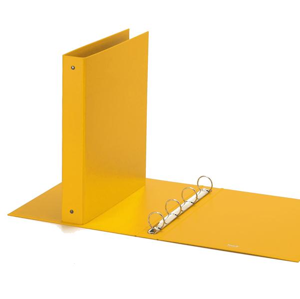 Raccoglitore Europa - 4 anelli tondi 30 mm - dorso 4 cm - 22x30 cm - giallo - Favorit