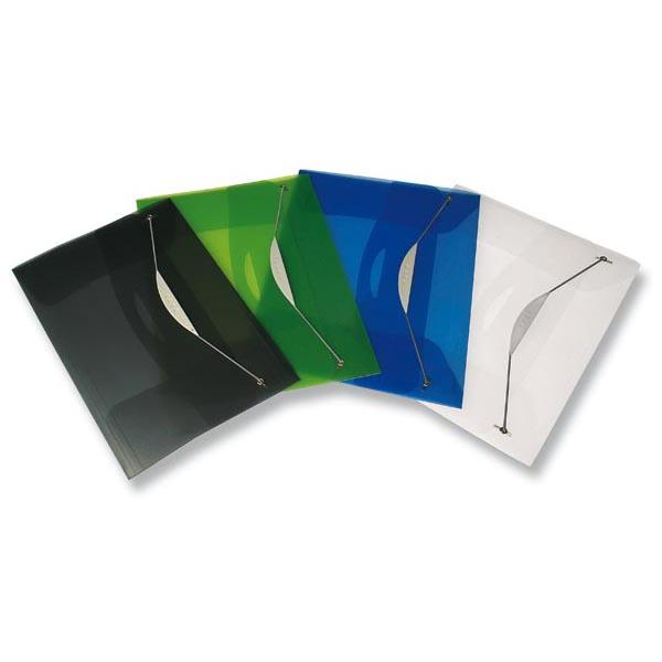 Cartellina con elastico Swing - PPL - 23,5x34,5 cm - trasparente grigio - Fellowes