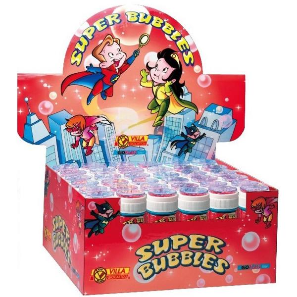 Bolle di sapone Super Bubbles - Villa Giocattoli - flacone da 60 ml