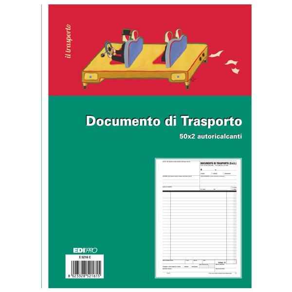 Blocco DDT - 50/50 fogli autoricalcanti - 29,7 x 21cm - Edipro