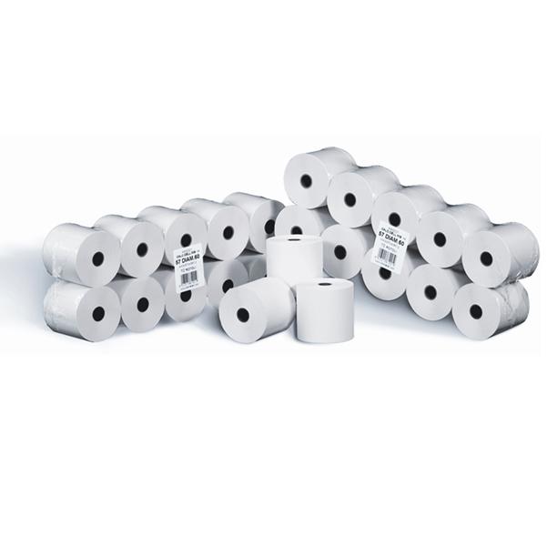 Rotoli calcolatrici - 58 mm x 28 mt - diametro esterno 58 mm - anima 12 mm - 55 gr - cellulosa - Rotomar - blister 10 rotoli