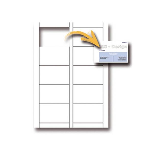 Biglietti da visita - 85 x 54mm - 250gr - microperforati - bianco - 10 biglietti - Decadry - conf. 12fg